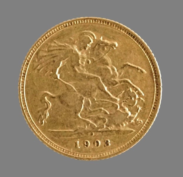 Australia, 1/2 sovereign (gold!) 1903