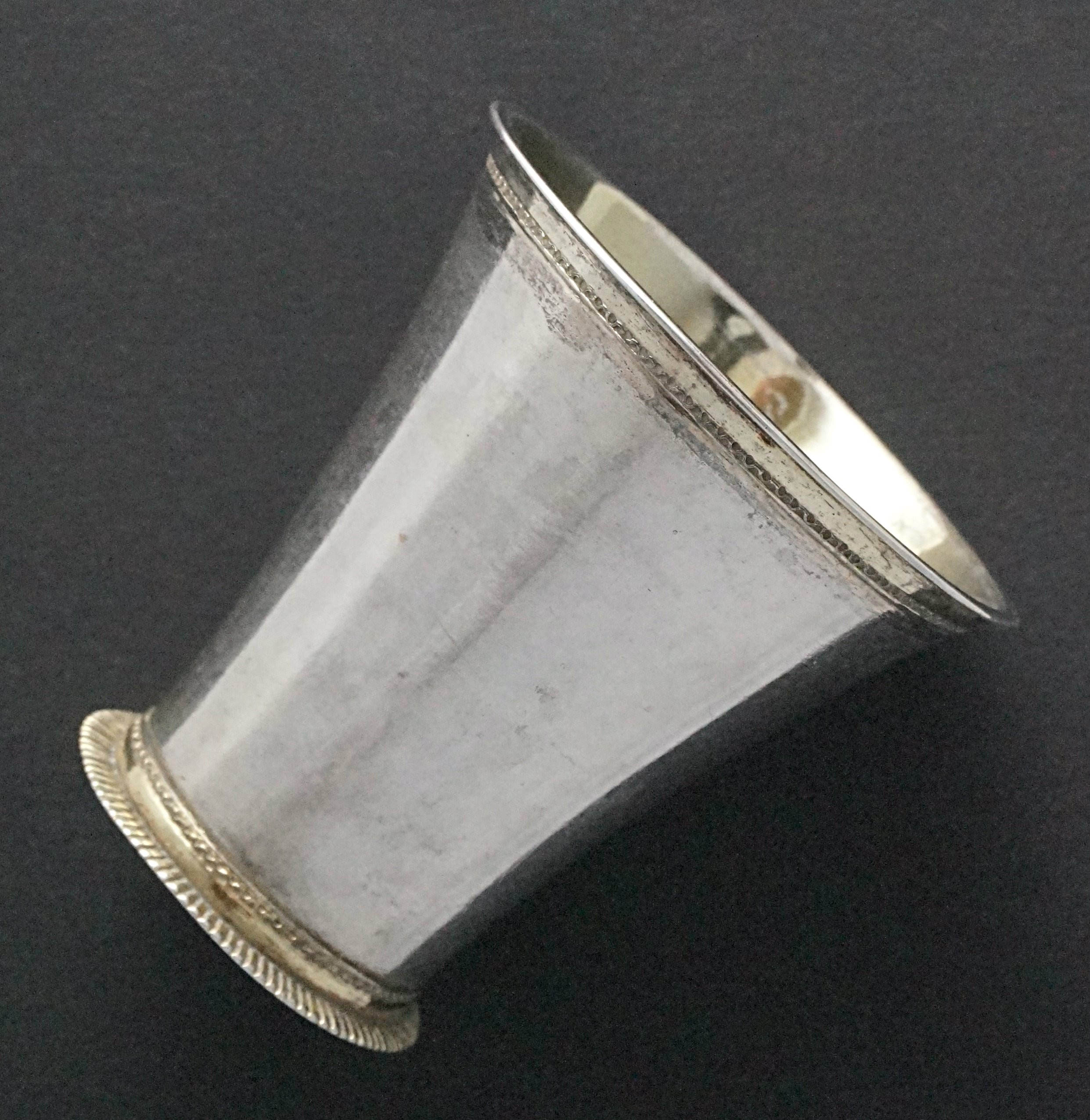 Silver goblet w/ coin ca. 1750