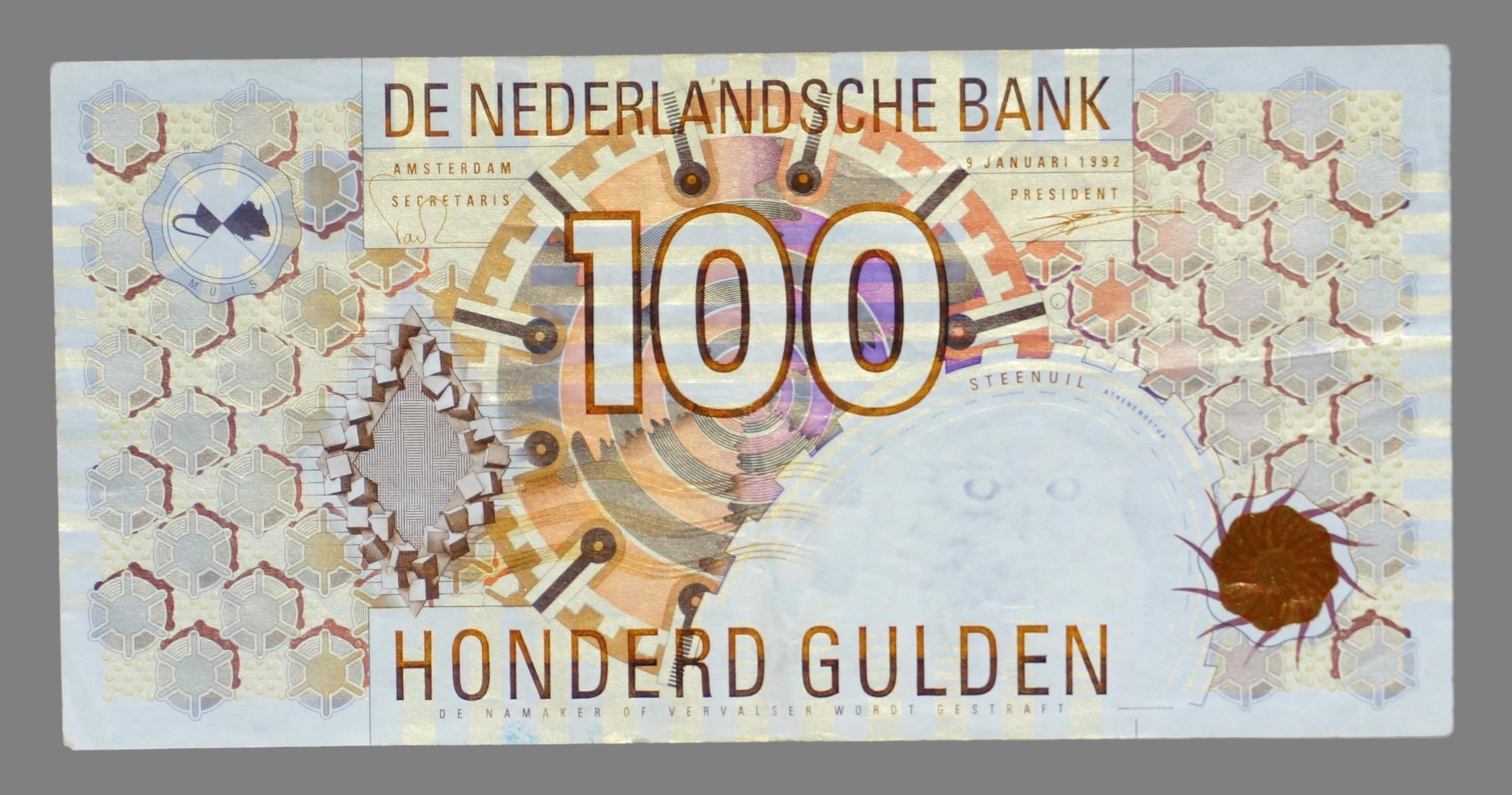 Netherlands, 100 gulden 1992