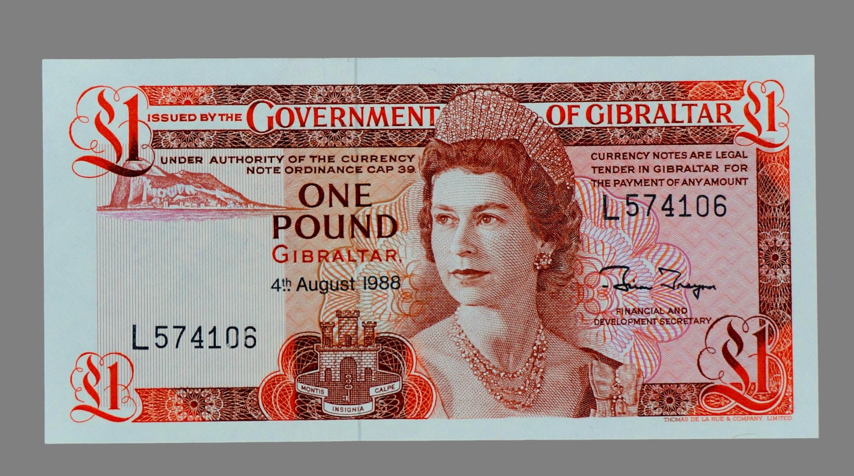 Gibraltar, 1 pound 1988