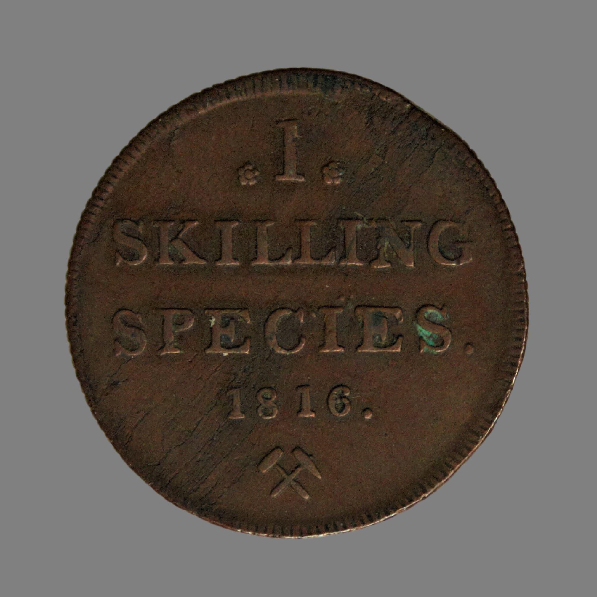 1 skilling 1816