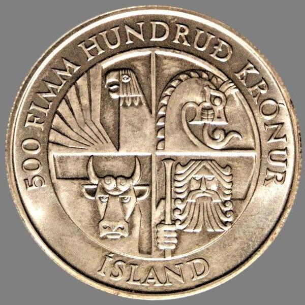 Iceland, 500 krónur 1974