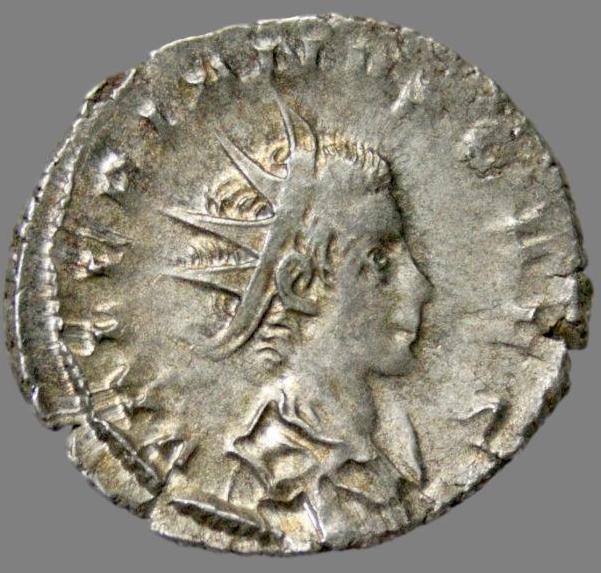 Antoninianus from Emperor Valerian Jr. (257-258 AD)