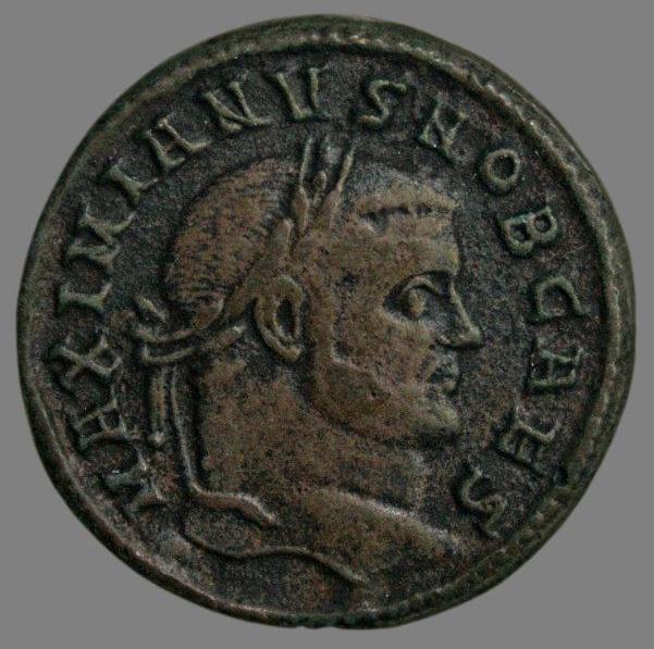Billon follis from Emperor Galerius (296-299 AD)