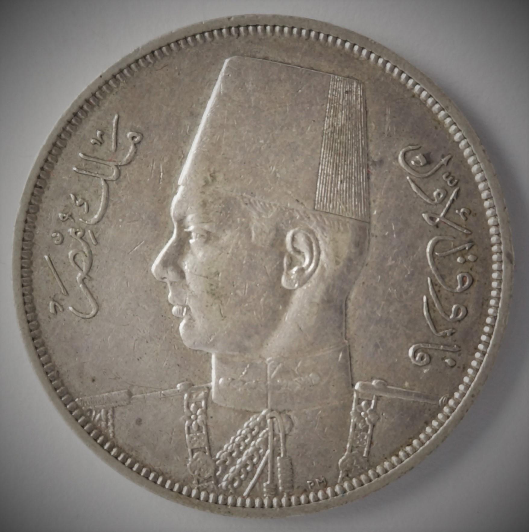 Egypt, 10 piastres 1939 (AH 1358)